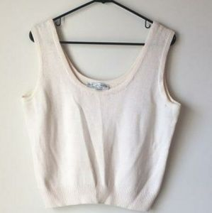 St. John Knit Tank Top Shell Sleeveless